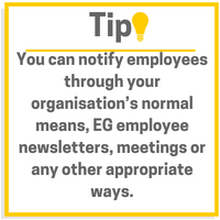 Notify employees