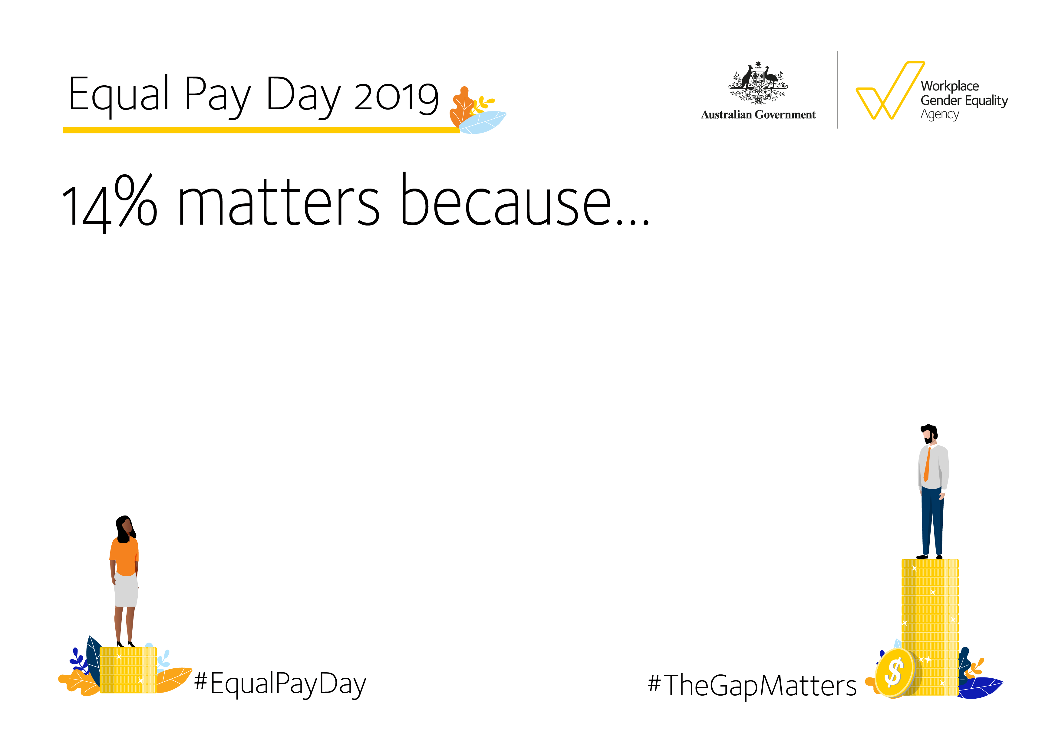 Equal Pay Day 2019 - Selfie Sign