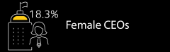17.1% female CEOs