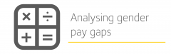 Analysing gender pay gaps icon