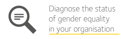 Image is a decorative icon for diagnose the status of gender equality in your organisation