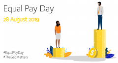 Equal Pay Day 2019 - 28 August 2019
