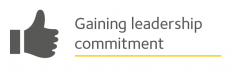 Image is a button linking to Gaining leadership commitment