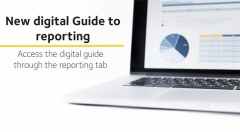This image depicts the new digital reporting guide, which can be accessed through the reporting tab on the WGEA homepage