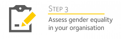 3. Assess gender equality in your organisation