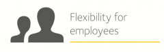 Image is decorative and depicts flexibility for employees