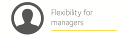 image is decorative and depicts flexibility for managers