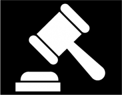 Image is decorative and depicts a gavel