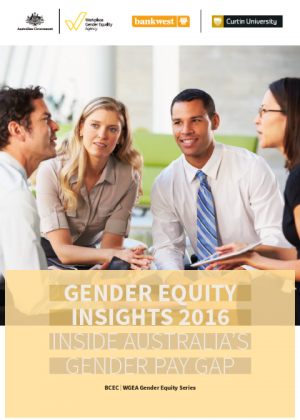 Gender Equity Insights 2016: Inside Australia's Gender Pay Gap Cover