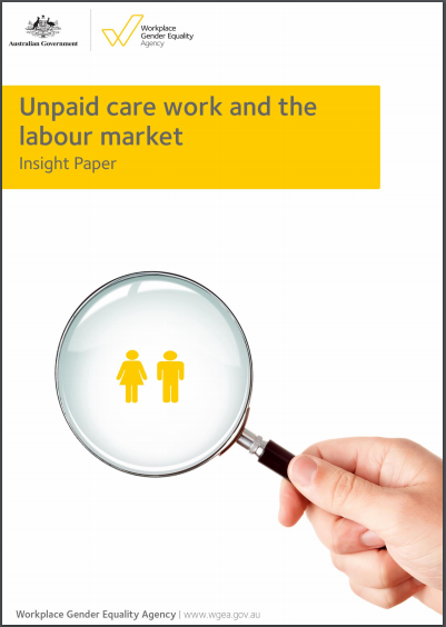 Image is decorative and depicts unpaid care work insight paper