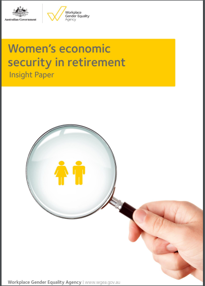 Image depicts women's economic security in retirement paper